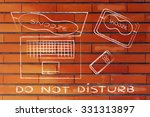 do not disturb  set of... | Shutterstock . vector #331313897