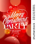 merry christmas party banner... | Shutterstock .eps vector #331315001