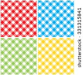 set checkered colored... | Shutterstock .eps vector #331315841