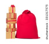 Red Christmas Sack Full Of And...