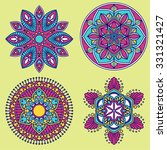 round mandala set  abstract... | Shutterstock .eps vector #331321427