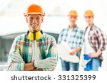 portrait of male engineers... | Shutterstock . vector #331325399