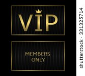 black vip card with golden text.... | Shutterstock .eps vector #331325714