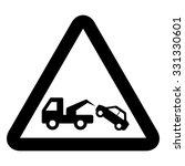 tow away no parking sign .... | Shutterstock .eps vector #331330601