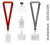 vector set of lanyard ... | Shutterstock .eps vector #331331204