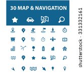 map  navigation  route icons | Shutterstock .eps vector #331332161