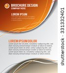 magazine cover  design layout... | Shutterstock .eps vector #331332401
