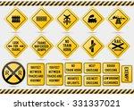 american traffic signs ... | Shutterstock .eps vector #331337021