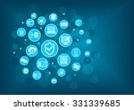 it security concept background | Shutterstock .eps vector #331339685