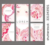 set of vector design templates. ... | Shutterstock .eps vector #331343501