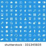 100 b2b icons set   Shutterstock .eps vector #331345835