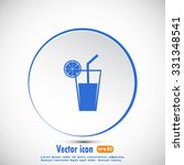 vector glass of juice icons  | Shutterstock .eps vector #331348541