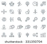 business and finance icon set... | Shutterstock .eps vector #331350704