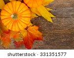 One Orange Pumpkin With Maple...
