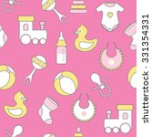 seamless vector pattern with... | Shutterstock .eps vector #331354331