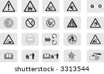 work  icon  symbols collection   Shutterstock .eps vector #3313544