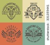 shooting range or shooting club ... | Shutterstock .eps vector #331355441