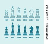 Chess Pieces With Named Set Of...