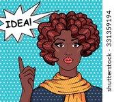 vintage african american girl... | Shutterstock .eps vector #331359194