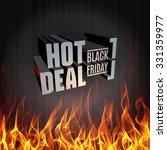 black friday vector label... | Shutterstock .eps vector #331359977