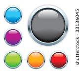 shiny glass buttons | Shutterstock .eps vector #33136045