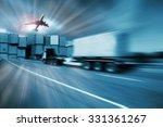 container truck   freight cargo ... | Shutterstock . vector #331361267