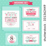wedding invitation template ... | Shutterstock .eps vector #331362449