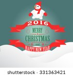 new year and christmas card... | Shutterstock . vector #331363421