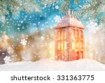 christmas background with... | Shutterstock . vector #331363775