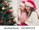 young mother and her daughter... | Shutterstock . vector #331365119