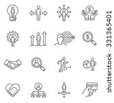 business and finance icon set... | Shutterstock .eps vector #331365401