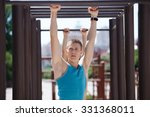 crossfit man working out pull... | Shutterstock . vector #331368011
