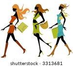 shopping girls | Shutterstock .eps vector #3313681