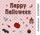 happy halloween icon set | Shutterstock .eps vector #331369865