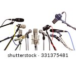several microphones prepared... | Shutterstock . vector #331375481