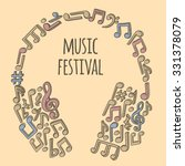 doodle style musical notes... | Shutterstock .eps vector #331378079