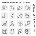 welding work and welding tools... | Shutterstock .eps vector #331378889