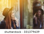 portrait of young smiling woman ... | Shutterstock . vector #331379639