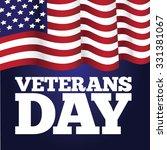 veterans day flag design eps 10 ... | Shutterstock .eps vector #331381067