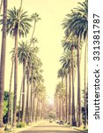 beverly hills street with palm... | Shutterstock . vector #331381787