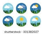weather icon set flat vector... | Shutterstock .eps vector #331382027
