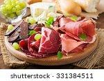 antipasto catering platter with ... | Shutterstock . vector #331384511