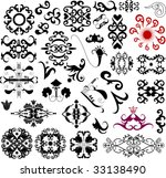 many ornament decorative... | Shutterstock .eps vector #33138490