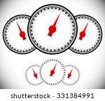pressure gauge  generic dial... | Shutterstock .eps vector #331384991