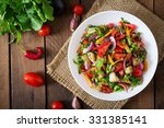 salad  baked eggplant and fresh ... | Shutterstock . vector #331385141