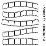 black and white film strips ... | Shutterstock .eps vector #331388024