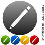 pencil symbol on background in... | Shutterstock .eps vector #331388069