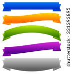 set of banners  ribbons with...   Shutterstock .eps vector #331393895