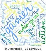 gamer word cloud on a white...   Shutterstock .eps vector #331395329