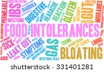 food intolerances word cloud on ... | Shutterstock .eps vector #331401281